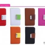 case iphone 5 azns เคสหนังฝาพับข้างมีสายคาดปิด สีเจ็บๆ