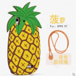 Case OPPO R7 Lite / R7 ซิลิโคน 3 มิติ ต้นกระบองเพชร สับปะรด น่ารักมากๆ ราคาถูก