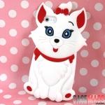 case iphone 5 เคสไอโฟน เคสซิลิโคน 3D รูปน้องแมวหน้ารักๆ Cute dimensional cat iPhone5 Silicone Case