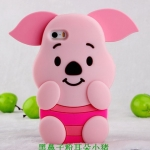 case iphone 4s เคสไอโฟน4 เคสซิลิโคน 3D ตุ๊กตาพิกเลทน่ารักมากๆ Disney cute piglet silicone case