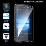 Microsoft Lumia 650 ฟิล์มกระจกนิรภัยป้องกันหน้าจอ 9H Tempered Glass 2.5D (ขอบโค้งมน) HD Anti-fingerprint
