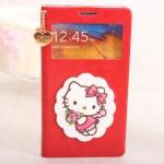 case note 3 เคส Samsung Galaxy note 3 เคสฝาพับคิตตี้น่ารักๆ มีตุ้มหัวใจทอง ฝาพับแบบบาง มีช่องโชว์หน้าจอ ราคาส่ง ขายถูกสุดๆ