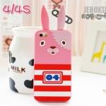 case iphone 4/4s เคสไอโฟน4/4s เคสซิลิโคน 3D นักโทษกระต่าย น่ารักๆ