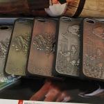 case iphone 5 เคสไอโฟน5 เคสโลหะแนวจีนย้อนยุค ลายมงคล ปลาคาร์ฟ มังกร retro metal iPhone5 carp dragons protective shell