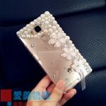 เคส Huawei Mate 7 เคสพลาสติกประดับไข่มุข คริสตัล สุดหรูหรา สวยงาม เริ่ดที่สุดในสามโลก ราคาถูก