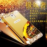 เคส Samsung Galaxy Note 3 แบบประ 2 ชิ้น ขอบเคสโลหะ Bumper + พร้อมแผ่นฝาหลังเงางามประดับคริสตัลสวยจับตา ราคาถูก
