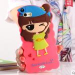 Case OPPO Neo 5s ซิลิโคน 3D สามมิติเด็กผู้หญิงน่ารักสวมหมวกปลาน้อย น่ารักมากๆ ราคาส่ง ราคาถูก ราคาปลีก