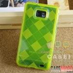 Case S2 Case Samsung Galaxy S2 i9100 เคสซิลิโคน TPU โปร่งแสง มีลายตาลางสวยๆ นิ่มๆ ไม่ทำให้ตัวเครื่องเป็นรอย TPU transparent shell lattice Silicone Case