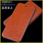 Case Asus Zenfone 3 (5.5 นิ้ว ZE552KL) แบบฝาพับหนังเทียม MOFI สวยหรูมากๆ ราคาถูก