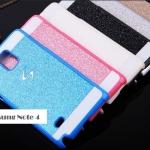 เคสซัมซุงโน๊ต4 Case Samsung Galaxy note 4 พลาสติกประดับกากเพชรสุดวิ้ง ฟรุ้งฟริ้งสุดๆ ราคาส่ง ขายถูกสุดๆ