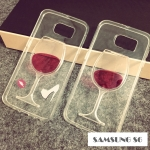 เคส samsung galaxy s6 ซิลิโคน TPU โปร่งใสประดับแก้วไวน์ด้านหลัง ราคาส่ง ราคาถูก