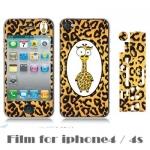 film iphone 4/4s ฟิล์มกันรอยไอโฟน4/4s ฟิล์มกันรอยหน้าหลัง น่ารักๆลายยีราฟ ลายโดเรมอน มายเมโลดี้ โบโซ่