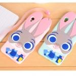 Case OPPO A37 ซิลิโคน TPU 3 มิติ กระต่ายน้อยน่ารักๆ ราคาถูก (ไม่รวมสายคล้อง)