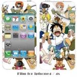 film iphone 4/4s ฟิล์มกันรอยไอโฟน4/4s ฟิล์มกันรอยหน้าหลัง ลายการ์ตูนวันพีช ริลัคคุมะหมีน้อยน่ารัก มารูโกะ เด็กหญิงน่ารักมากๆ ชินจัง ราคาถูก