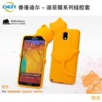 เคสซัมซุงโน๊ต3 Case Samsung Galaxy note 3 เคสซิลิโคน 3D น้องแมวเกาะอยู่ด้านหลังมือถือ น่ารักๆ เคสมือถือราคาถูกขายปลีกขายส่ง