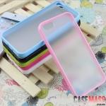 case iphone 5 เคสไอโฟน5 เคสขอบสีลูกกวาดหวานๆ ด้านหลังด้านโปร่งแสง ใส่แล้วสวยมากๆ