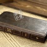 เคส Note 2 Case Samsung Galaxy Note 2 II N7100 เคสกระเป๋าหนัง ทำเป็นตำราหนังสือเวทมนต์เก่าๆ ใส่บัตรได้ Bookbook Samsung N7100 cell phone holster note2 retro books leather