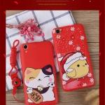 Case Huawei Y6II ซิลิโคน soft case นำโชค สีแดงสดใสต้อนรับปีไก่ เฮงๆ ราคาถูก (ไม่รวมสายคล้อง)