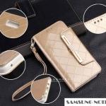Case Samsung Galaxy Note 5 แบบฝาพับคุณนายสวยมากๆ ประดับขอบทองตรงฝาเปิด ราคาถูก