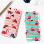 Case iPhone 6s Plus,6 Plus (5.5 นิ้ว) พลาสติกเล่นลายนกฟามิงโก สวยมากๆ ราคาถูก