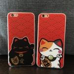 เคสไอโฟน5s / 5 พลาสติกแมวน้อยนำโชค แมวกวักนำโชค เฮงเฮง ราคาส่ง ขายถูกสุดๆ