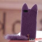 case iphone 5 เคสไอโฟน เคสตุ๊กตาหมาจิ้งจอกหูแหลมๆ หางยาวๆ น่ารักๆ แปลกตา Korea plush Orecchiette iPhone5