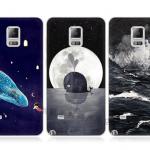 เคส Samsung Galaxy Note 4 ซิลิโคน soft case แบบนิ่ม ท้องทะเล ปลาวาฬ น่าค้นหาน่าหลงใหลมากๆ ราคาถูก