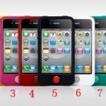 case iphone 4s 4 เคสซิลิโคนนิ่มๆ สีสวยๆ น่ารักๆ มีปุ่มกดใหญ่สีตัดกันสวยๆ