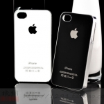 case iphone 4s 4 เคสไอโฟน4s 4 เคสขอบโลหะเท่ๆ ด้านหลังใช้วัสดุป้องกันรอยขีดข่วนสวยๆ scratch-resistant glass sprotective