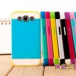 Case Samsung S3 เคสซิลิโคนสีเจ็บ สลับสีสวยๆ มีแผ่นครอบด้านนอกอีก 1 ชั้น