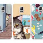 เคส Samsung Galaxy Note 4 ซิลิโคน soft case แบบนิ่ม สกรีนลายแมวน้อยกับน้องหนูแสนน่ารัก ราคาถูก
