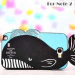Case Samsung Galaxy Note 2 ซิลิโคนปูน้อย ปลาวาฬน้อย เคสมือถือ ขายส่ง ราคาถูก