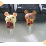 จุกกันฝุ่นมือถือ หมีน้อยสีน้ำตาลและสีครีมสุดน่ารัก สำหรับเสียบกันฝุ่นรูหูฟังและเพื่อความสวยงามสำหรับ iphone samsung htc oppo lg sony nokia asus หรือมือถือที่มีหูฟังขนาด 3.5 มม. / 3.5mm. Anti Dust Earphone Cap Jack Plug