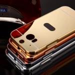 เคส HTC M8 ขอบเคสโลหะ Bumper + พร้อมแผ่นฝาหลังเงางามสวยจับตา ราคาถูก