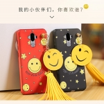 เคส Huawei Mate 9 พลาสติกสกรีนลายยิ้ม SMILE พร้อมที่ห้อยเข้าชุด ราคาถูก