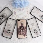 เคส iphone 7 plus พลาสติกโปร่งใสสกรีนลายผู้หญิงประดับครอสตัลสุกวิ้งสวยงาม พร้อมแหวานในตัว ราคาถูก
