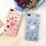Case iPhone 7 (4.7 นิ้ว) พลาสติกผิวกันลื่นสกรีนลายนกฟลามิงโก น่ารักๆ ราคาถูก