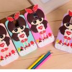 เคสซัมซุง S5 Case Samsung Galaxy S5 ซิลิโคนนิ่มๆ ตัวการ์ตูนเด็กผู้หญิงวัยรุ่น ตาโตแบ๊วๆ น่ารักๆ