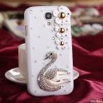 Case Samsung S4 เคสหงส์ประดับเพชรเป็นประกายวิ๊บวั๊บ สวยมากๆ