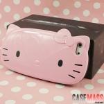 case iphone 5 เคสไอโฟน5 เคสหน้าน้องแมว คิตตี้ ติดโบว์ 3D น่ารักๆ สีหวานๆ สวยๆ เด่นๆ cute face hello kitty 3D TPU