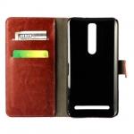 เคส ZenFone 2 (ZE551ML / ZE550ML) 5.5 นิ้ว แบบพับหนังเทียมสีคลาสสิค เรียบ หรู ราคาถูก