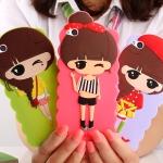 Case Huawei P8 ซิลิโคน 3D สามมิติเด็กผู้หญิงน่ารักสดใสน่ารักมากๆ ราคาส่ง ราคาถูก ราคาปลีก
