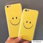 เคสไอโฟน5s / 5 พลาสติกสีเหลือรอยยิ้มสดใส ราคาส่ง ขายถูกสุดๆ
