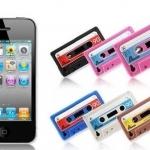 case iphone 4s 4 เคสไอโฟน4s 4 เคสซิลิโคนทำเป็นเทปคลาสเซ็ท เท่ๆ แนวๆ audio tape iphone4 phone shell Silicone Case 4S shell protective cover retro