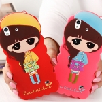 Case Huawei ascend g620s (alek 4g) ซิลิโคน 3D สามมิติเด็กผู้หญิงสวมหมวกน่ารักๆ ราคาส่ง ราคาถูก ราคาปลีก