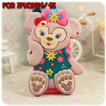 case iphone 4/4s เคสไอโฟน4/4s เคสซิลิโคน ตุ๊กตาหมี น่ารักๆ