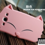 เคส Samsung S3 เคสซิลิโคน 3D น้องแมวตาหยี น่ารักๆ
