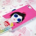 case iphone 5 เคสไอโฟน5 เคสแนวๆ ลายเด็กผู้หญิงใส่แว่นดำ น่ารัก เท่ๆ