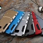 เคส Samsung Note 5 เคสกันกระแทกแยกประกอบ 2 ชิ้น ด้านในเป็นซิลิโคนสีดำ ด้านนอกพลาสติกเคลือบเงาโลหะเมทัลลิค มีขาตั้งสามารถตั้งได้ สวยมากๆ เท่สุดๆ ราคาถูก