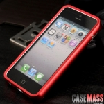 case iphone 5 เคสไอโฟน5 zomgo ขอบเคส bumper ไทเทเนียมอัลลอย น้ำหนักเบาแยกประกอบ 2 ชิ้น โดยการสไลด์ มีปั๊มสกรีนเลข 5 สีขาวไว้ที่ขอบ ขอบมนๆ โลหะด้านๆ สีสดๆ สวยๆ Genuine iphone5 shell pull-titanium alloy metal frame